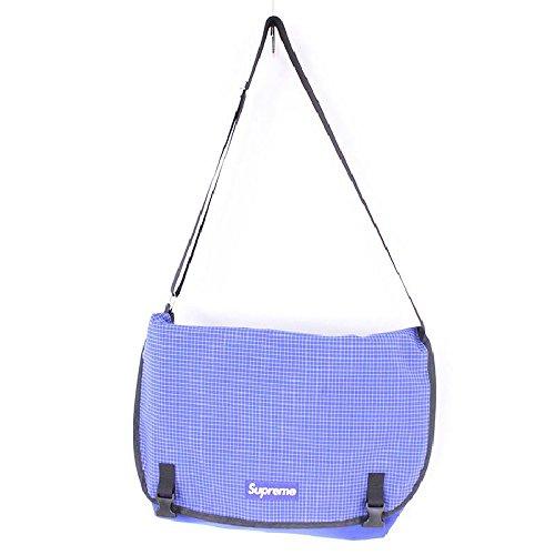 (シュプリーム)SUPREME 【09AW】【Messenger Bag】グラフチェックメッセンジャーボディバッグ(ブルー×ブラック) 中古 B075PQ5LK2