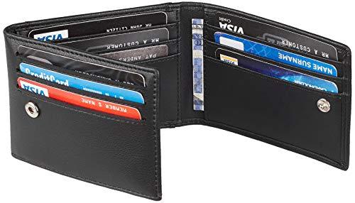 Travelambo Credit Card Case Cover Holder Slim Minimalist Front Pocket Wallet RFID Blocking (napa black)