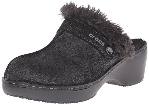 Zueco de piel Crocs Cobbler Shimmer Black/black