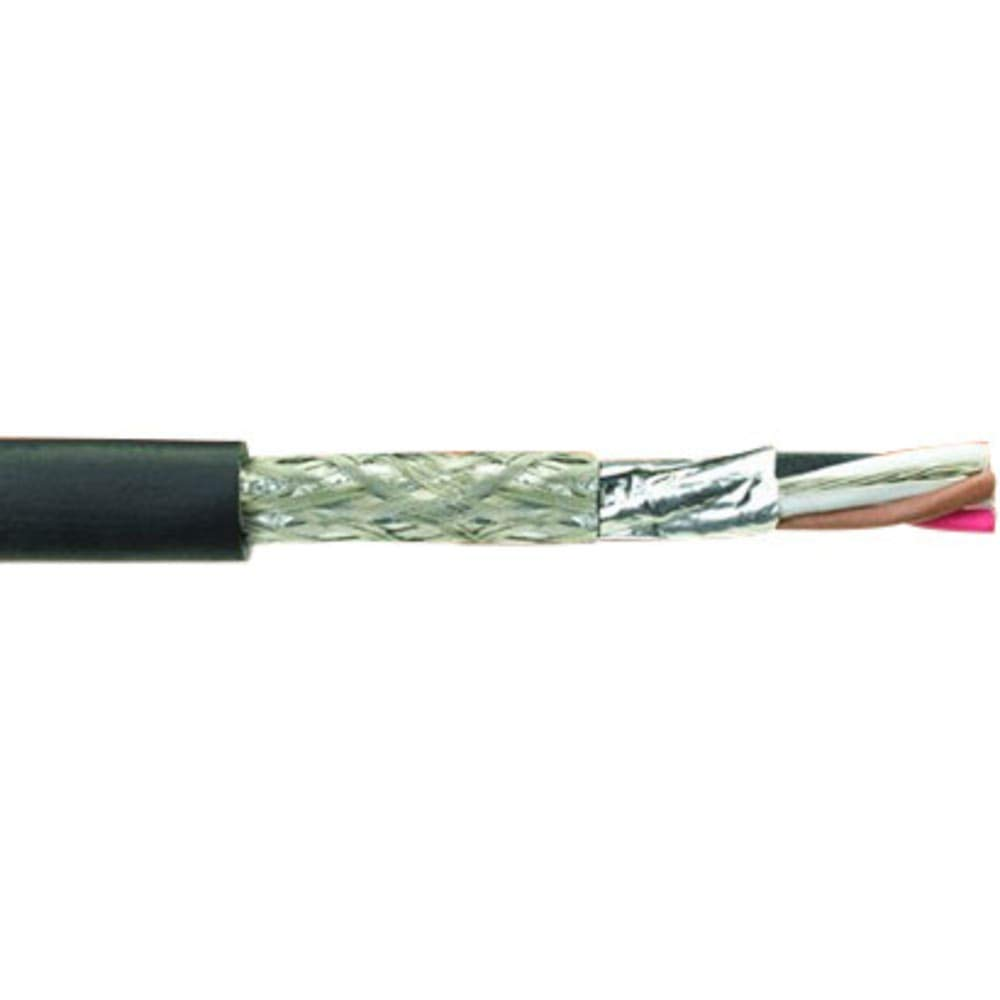 Multiconductor Cable; STP; 8 Prs; 20 AWG; 7x28; Overall Foil; PVC Ins; Blk; PVC Jkt; BC