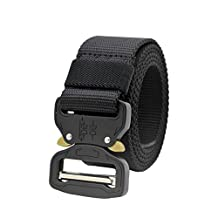 Molle Tactical Belt CQB Rigger Waistbelt Rappel Battle Adjustable Military Webbing Band Nylon Outdoor Heavy Duty 15inch Metal Buckle Mens EDC Belt …