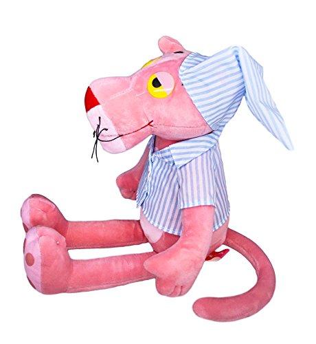 (Pink Panther in Blue Stripe Pajamas, Stuffed Animals Toy Plush)