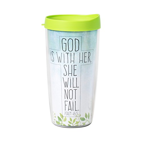 God with Her She Will Not Fail Psalm 46:5 Watercolor Wrap 16