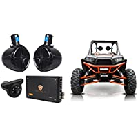 (2) Rockville 8 Tower Speakers+4-Ch. Amp+Bluetooth Contoller For RZR/ATV/UTV