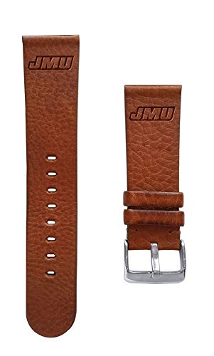 - Affinity Bands James Madison University Dukes 24mm Premium Leather Watch Band - 2 Lengths - 3 Leather Colors - Officially Licensed