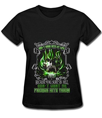 Orchard Plazza Women's mess with life as hell particular tee shirt black