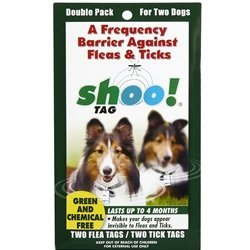 Dog Flea/Tick Tag Barrier - Double Pack by 0BugZone (previously known as shoo!TAG)
