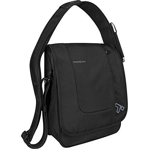 Travelon Anti-Theft Urban North South Messenger Bag, Black, One Size
