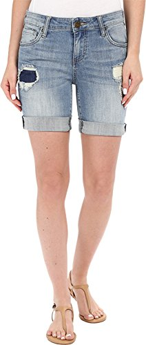 UPC 601350811423, KUT from the Kloth Women's Catherine Boyfriend Shorts in Vow w/ New Vintage Base Wash Vow/New Vintage Base Wash Shorts 10 X 32