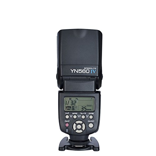 YONGNUO YN560 IV Wireless Flash Speedlite Master + Slave Flash + Built-in Trigger System for Canon Nikon Pentax Olympus Fujifilm Panasonic Digital (Olympus E-system Cameras)