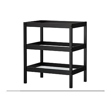 Ikea Sundvik Changing Table Black Brown Black Amazon De