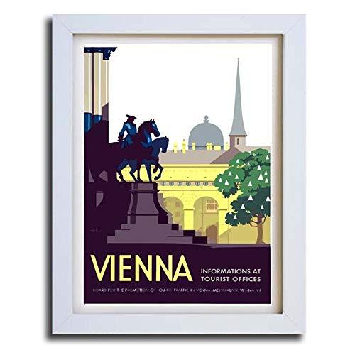 boxprints Viena Austria Vintage Estilo Retro Viaje Cartel ...