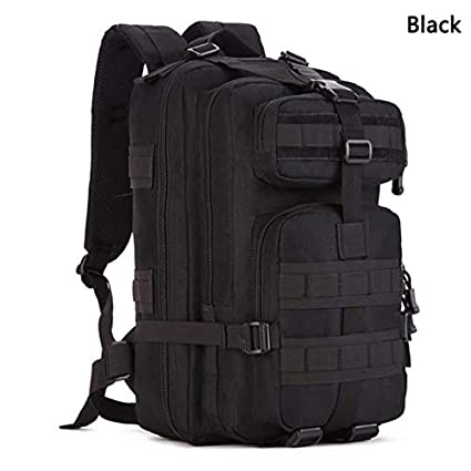 e1c5479976d Amazon.com : ZhaJunBag 30L Multi-Function Military Rucksack Army Tactical  Pack Utility Outdoor Laptop Bags Travel Camping Hiking Backpack Black  30-40L ...
