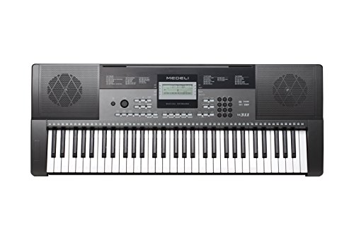 medeli m311 61 key portable electronic keyboard with interactive lcd screen includes power. Black Bedroom Furniture Sets. Home Design Ideas