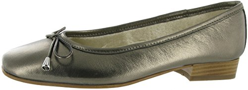 Riva Provence Leather womens Ballerina Pewter Size 38.5