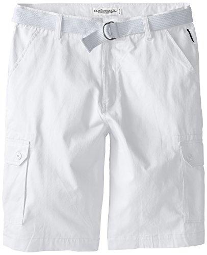 Ecko Unlimited Men's Big-Tall Belted Cargo Short, White, 46/Big