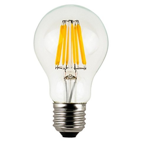 - HC Lighting - 12V Low Voltage Input Clear A19 Decorative Style LED Light Bulb 8W 60 Watt Equivalent Medium Standard E26 Screw Base Retro Fit Light Bulb (1/PK) (A19 8W)