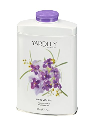 Yardley of London Perfumed Talc for Women, April Violets, 7 Ounce