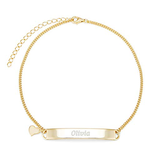 Engravable Name Bar Anklet...