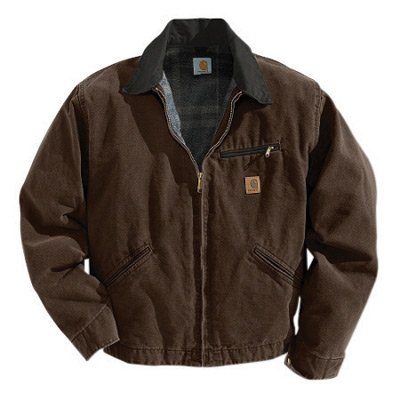 XLg Regular Dark Brown 12 oz Cotton Sandstone Duck Blanket Lined Detroit (Blanket Lined Sandstone Detroit Jacket)