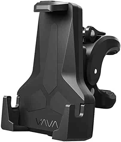 VAVA Bike Phone Mount, Phone Holder for Bike with Triangular Shape Arms to Keep Phones Safe (One-Handed Operation, 360 Degree Rotation, Fits Bicycles, Motorbikes, Scooters & Prams)