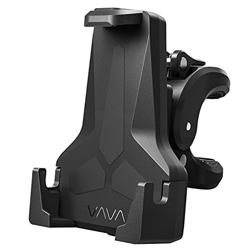 VAVA Bike Phone Mount, Phone Holder for Bike with Triangular Shape Arms to Keep Phones Safe (One Handed Operation, 360 Degree Rotation, Fits Bicycles, Motorbikes, Scooters & Prams)
