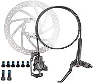 KASIQI TOYERA Bike Disc Brake Kit, Aluminum Front and Rear Caliper,Mountain Bike Disc Brake Set Hydraulic Disc