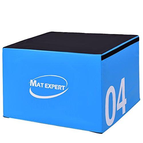 MAT EXPERT PVC Soft Foam Jumping Box Plyometric Exercise Fitness Safe Box (24' Height)