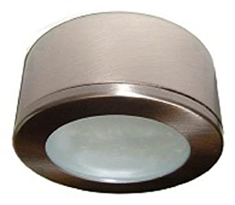 P120bn brushed nickel 120 volt xenon puck light under counter p120bn brushed nickel 120 volt xenon puck light mozeypictures Gallery
