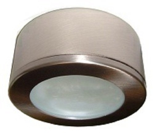 P120BN- Brushed Nickel 120 volt xenon puck light ()