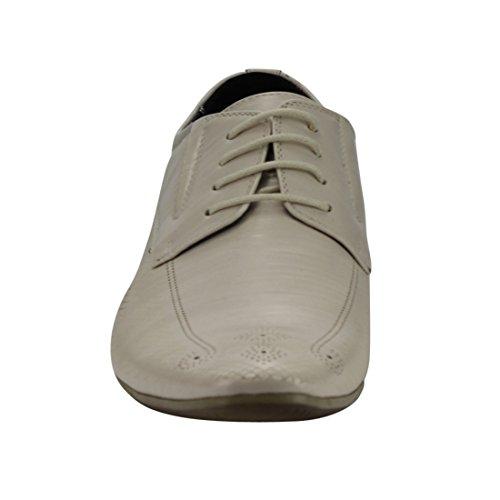Uv Signature Fg02 Mens Lacé Perforé Chaussures Oxford Blanc