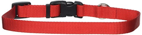 Coastal Pet Products DCP6601RED 3/4-Inch Nylon Adjustable Dog Collar, Medium, Red