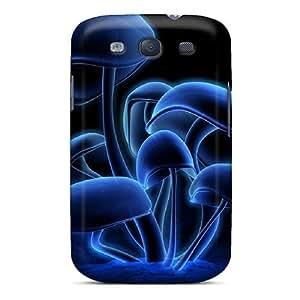 Defender Cases For Galaxy S3, 3d Mushrooms Pattern wangjiang maoyi
