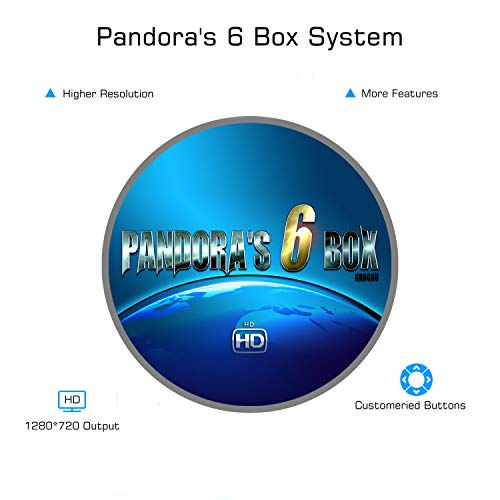 Spmywin Pandoras Box 6 Arcade Video Game Console Unique System Customize Buttons and Favorite List Function 1280x720 Full HD Advanced CPU Mini Arcade by Spmywin (Image #2)
