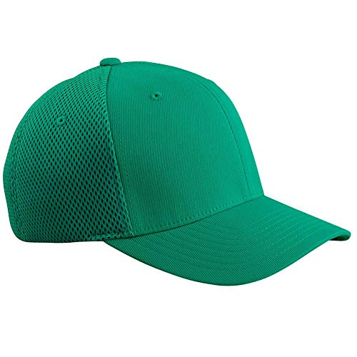 Flexfit 6533 Ultrafibre & Airmesh Fitted Cap, Green - Small/Medium ()