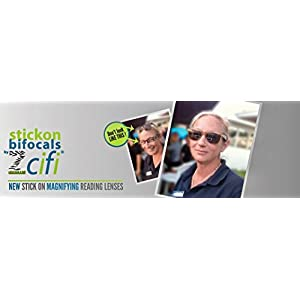 Stick on Bifocals by Zcifi Lenses +2.50 - FREE Case - Stick on Bifocals - Make Any Eyewear Into Bifocals Instantly - Most Adherent - Available In A Variety Of Powers - Reusable – Best Price