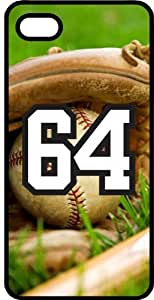 Baseball Sports Fan Player Number 4 Black Plastic Decorative iphone 5c Case
