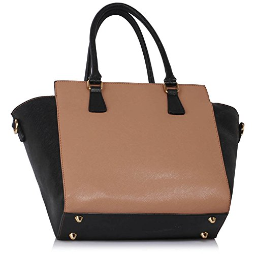 Tote Zipper 314 LeahWard Nice Women's BLACK Great DARK Handbags 314A Shoulder 502 Bags NUDE X88qT5wnF
