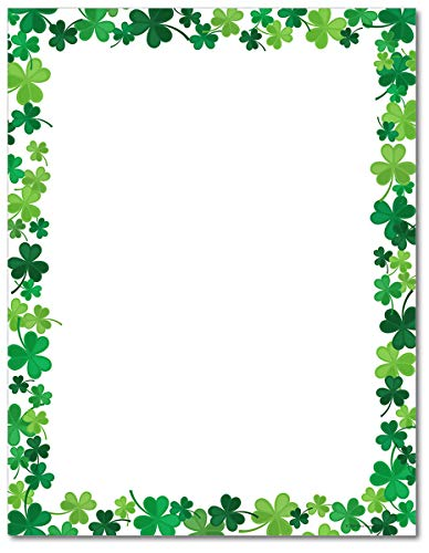 Jolly Shamrock Stationery Paper - 80 Sheets - Great for St. Patrick's Day!