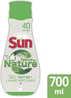 SUN Gel Lavavajillas Todo en 1 Limón Poder de la Naturaleza 40 ...