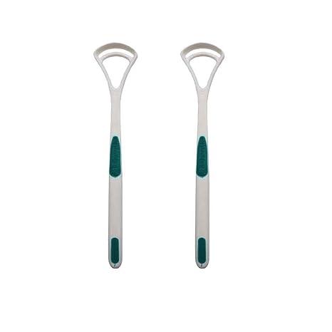 Babysbreath 2pcs / set raspadores limpiador de lengua rasguño revestimiento de la lengua cepillado limpiador de