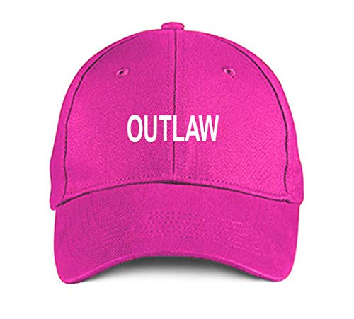 Product Express Outlaw Pink Funny Embroidered Hat Adjustable Structured Baseball Caps
