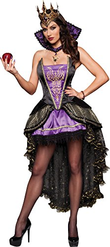 InCharacter Costumes Evil Queen Costume, Black/Purple, Medium - Black And White Queen Costume