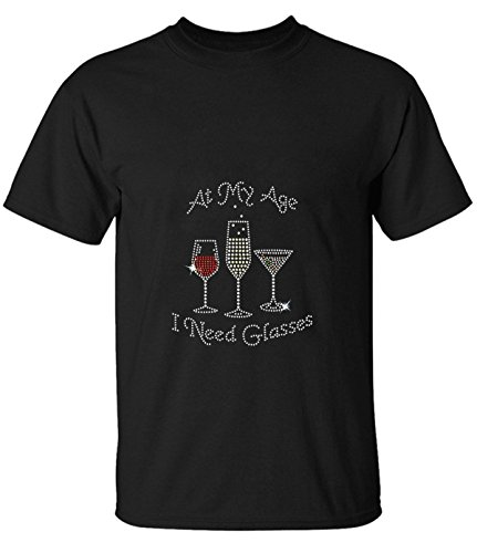 Orchard Plazza men's At My Age I Need Glasses classic short sleeve t-shirt - Shops Orchard At Old