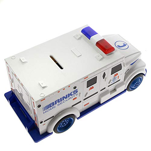ESC White Armored Truck Password Piggy Bank Money Saving Box with Coin & Note Insertion Music by ESC (Image #2)