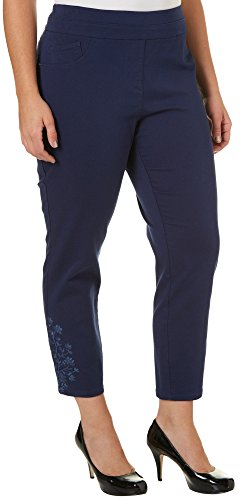 Dept 222 Plus Spring Awakening Super Stretch Pants 1X Peacoat Blue (Peacoat Stretch)