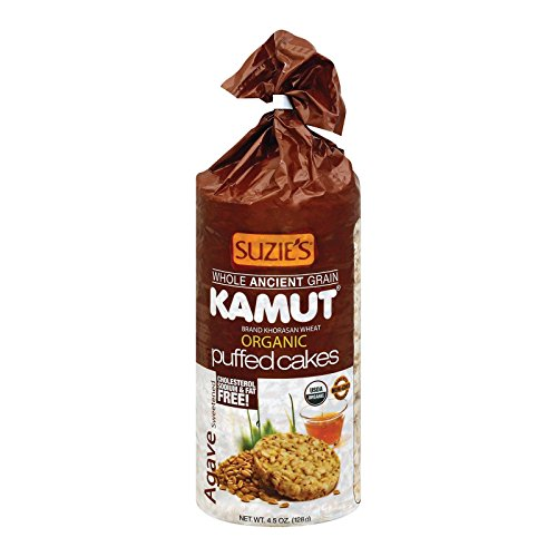 - Suzie's Kamut Puffed Cakes, Agave Sweetened, 4.5-Ounce Bags (Pack of 12)