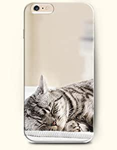OOFIT Apple iPhone 6 Case 4.7 Inches - Cat Sleeping