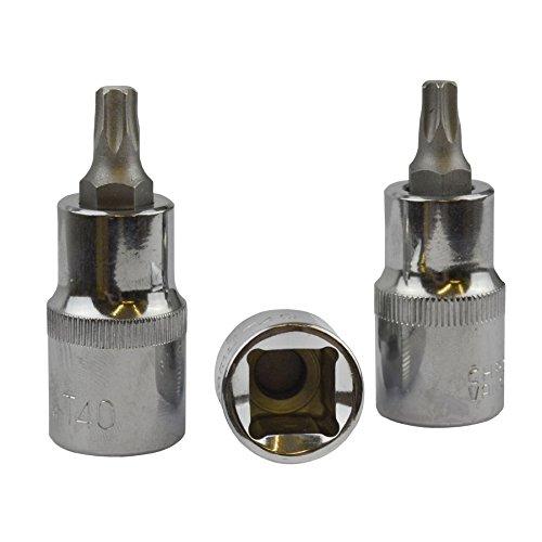 T40 Torx / Star Male Bit Sockets 1/2