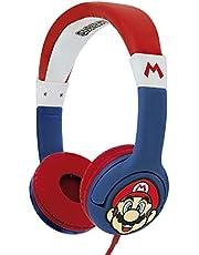 OTL Technlogies Super Mario Junior hoofdtelefoon, bekabeld, voor kinderen (officieel licentieproduct)
